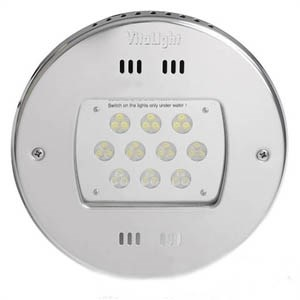 Прожектор LED, D=270мм, 30 диодов, белый теплый, 24 В DC, без ниши, 316L/Rg5 (40000420) - фото 5610