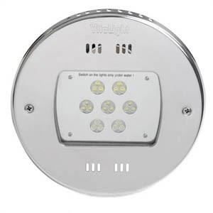 Прожектор LED, D=270мм, 21 диод, белый теплый, 24 В DC, без ниши, 316L/Rg5 (40100420) - фото 5627
