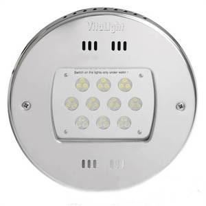 Прожектор LED, D=270мм, 30 диодов, RGB, 24 В DC, без ниши, сталь 316L/бронза (40000221) - фото 5699