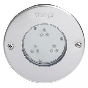 Прожектор LED, D=146мм, 9 диодов, белый холодный, 24 В DC, без ниши, сталь 316L/Бр (40300021) - фото 5709