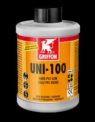 Клей для ПВХ UNI-100 1 л с кисточкой (6111052) - фото 5899
