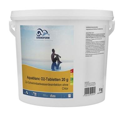 Аквабланк О2 в таблетках 20г (активный кислород) 10 кг - фото 6269