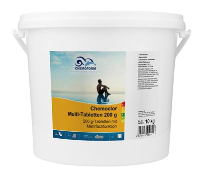 Всё-в-одном мульти-таблетки 200г дезинфектант - альгицид - флокулянт 10 кг - фото 6276