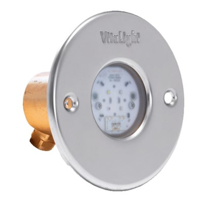 Прожектор LED 4/4, D=110 мм, 4 диода, 24 В, тёплый белый, без ниши, бронза (4.40400421) - фото 6727