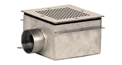 Слив донный 150х150, AISI 304, под плитку (СД.50.1) - фото 6863