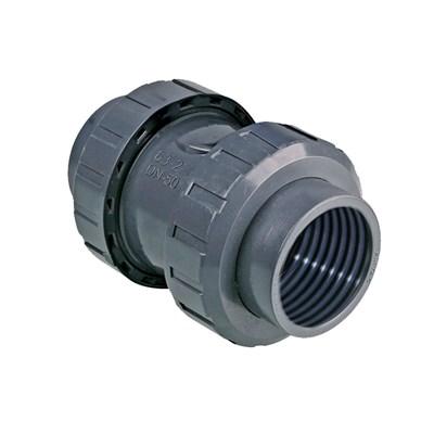 Обратный клапан пружинный, внутренняя резьба с двух сторон - фото 7282