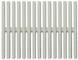 Переливная решётка, одинарное соединение, 195 мм (704001952) - фото 7305