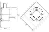 Распаечный короб с квадратной лицевой панелью и круглой закладной (РК.02.2)