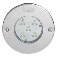 Прожектор LED, D=146мм, 15 диодов, белый теплый, 24 В DC, без ниши, 316L/Rg5 (40200420)