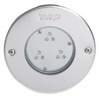 Прожектор LED, D=146мм, 9 диодов, белый теплый, 24 В DC, без ниши, 316L/Rg5 (40300420)